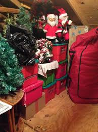 Christmas attic storage