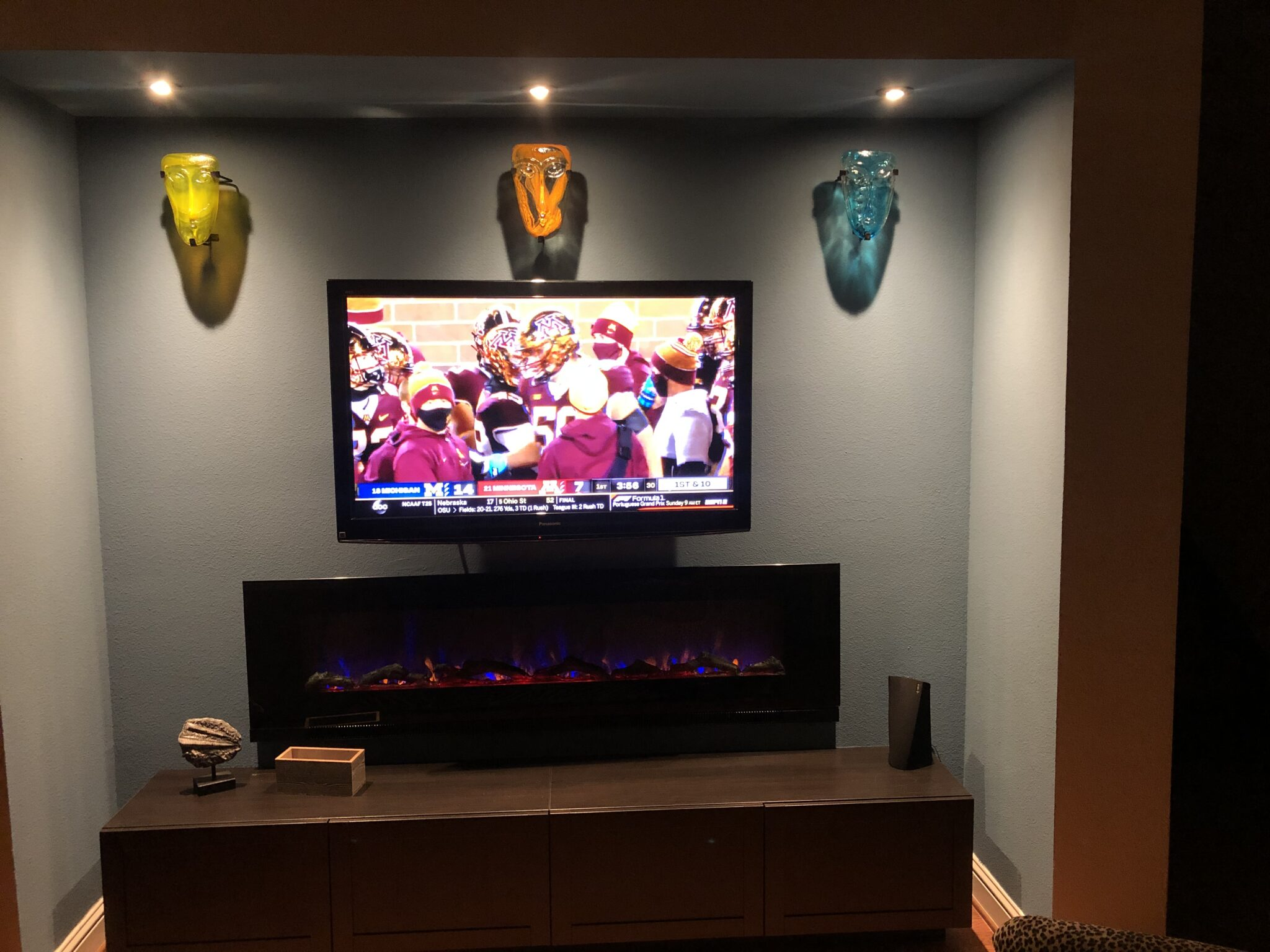 Electric Fireplace Entertainment Wall