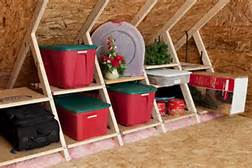 Attic Storage for Holiday Decorations