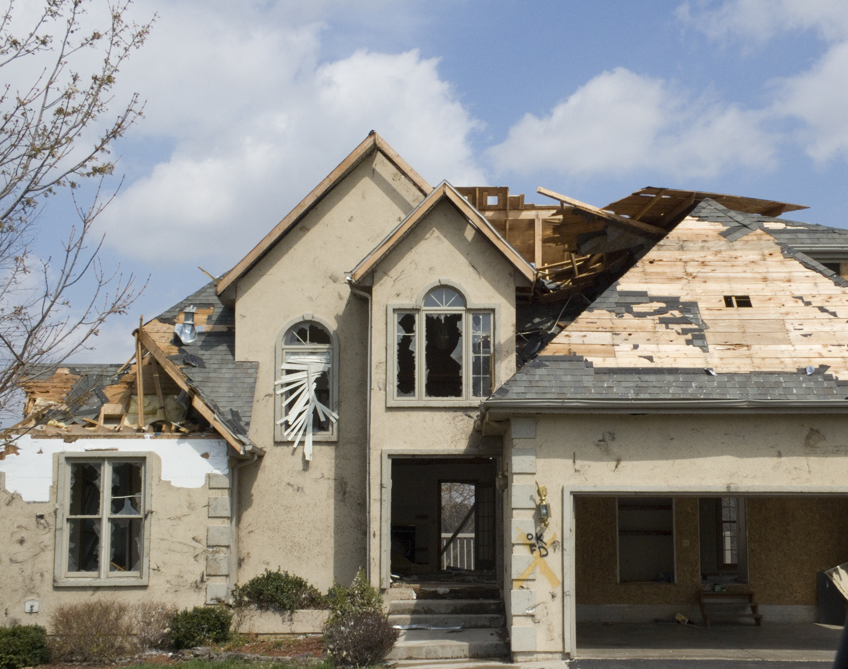 Wind damage to your home